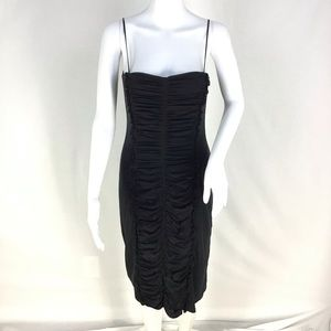 Elie Tahari Center Rouched SilkDress Sz 8